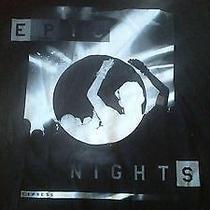 Nwt Express Men's Size Large Blackwhite Tshirt Cotton Epic Nights Photo