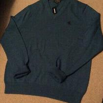 Nwt Express Mens v-Neck Sweater Color Blue W/specks of Navy Size Med Photo