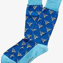 Nwt Express Men's Western Print Dress Socks Classic Blue 2127 822 07 Photo