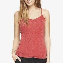 Nwt Express Metallic v-Neck Cami - Red Lacquer Xs Photo