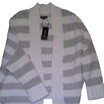 Nwt Express Neutral Stripe Shaker Stitch Cocoon Sweater Size Small Photo