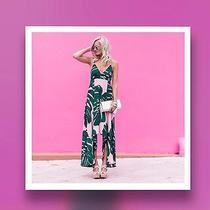 Nwt Express Palm Leaf Maxi Dress - Size 8 Medium Photo