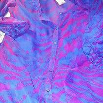 Nwt-Express Purple Sheer/lined  Dress Size Medium Photo