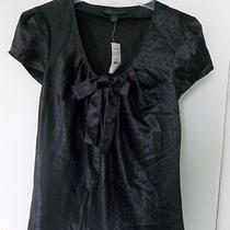 Nwt Express Pussy Bow Swiss Dot Black Top Blouse Career Photo