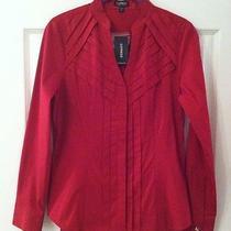 Nwt Express Red Button Down Dress Blouse & Matching Tank W/lace Size Xs Photo