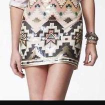 Nwt Express Sequin Aztec Skirt Size Medium Photo