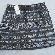 Nwt Express Sequined Mini Skirt Size Xs 14sx Photo