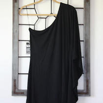 Nwt Express Sexy One Shoulder Drape Dolman Black Women's Top Size S Small  Photo