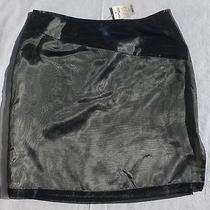 Nwt Express Silver Shimmery Mini Skirt - Size 9/10 - Gorgeous Photo