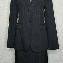 Nwt Express Skirt and Jacket Suit Black With White Pinstripes Size 8 and 10 Photo
