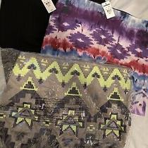 Nwt Express Skirts Size Small S Sequin Tie Dye Black Three Skirts Photo