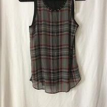 Nwt Express Sleeveless Sheer Plaid Top - S (Measurement in Pic) Photo
