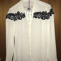 Nwt Express Slim Fit White Black Portofino Size Xs Photo