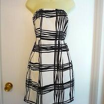 Nwt Express Strapless Sundress  Sz 8--No  Straps-Lined--Classy Blk and Wht Photo
