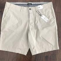 Nwt Express Stretch Khaki Shorts Brown Size 40 Men Photo