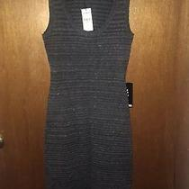 Nwt Express Striped Sleeveless Open Back Dress Size Xs Photo