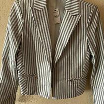 Nwt Express Stripped Jacket Women.      Size 4 Photo