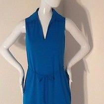 Nwt Express Sz. 13/14 Turquoise Blue Belted v-Neck Dress Photo