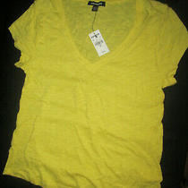 Nwt Express T-Shirt Yellow Top  Size Xs Photo