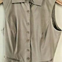 Nwt Express Vintage Compagnie Internationale  5 / 6  Silk Cotton Tan Dressy Vest Photo