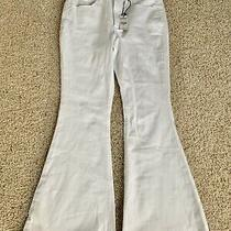 Nwt Express White Bell Flare High Rise Stretching Jeans Sz 0s Short Photo
