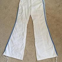 Nwt Express White Blue Striped Flared Outdoor Casual Sporty Track Pants 4 S Photo