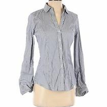 Nwt Express Women Gray Long Sleeve Button-Down Shirt S Photo