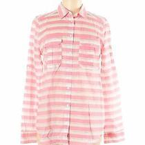 Nwt Express Women Pink Long Sleeve Button-Down Shirt M Photo