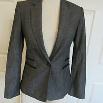 Nwt Express Women's Gray/black Long Sleeve Lined Blazer Size 2 128 Photo