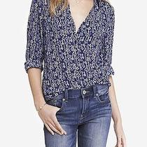 Nwt Express Womens Blue Key Print the Portofino Top Shirt Xs Photo