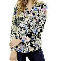 Nwt Express Womens Floral Print the Portofino Top Shirt S Photo
