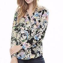 Nwt Express Womens Watercolor Print Portofino Original Fit Shirt Blouse Xs Photo