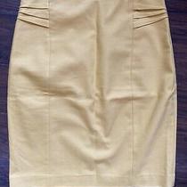 Nwt Express Yellow Pleated Waist Knee Length Skirt Size 8 Photo