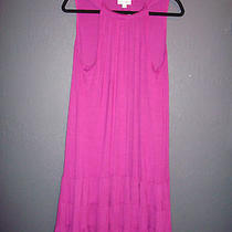 Nwt Fashion Bug Raspberry Trapeze Dress Xl 0 1x 14/16 Torrid Mustache Necklace  Photo