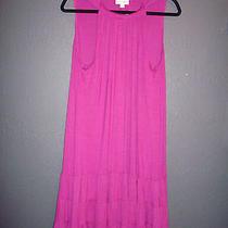 Nwt Fashion Bug Raspberry Trapeze Dress Xl 0 1x 14/16 Torrid Mustache Necklace  Photo