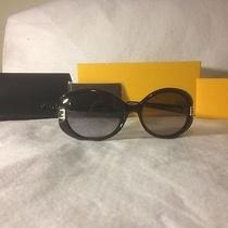 Nwt Fendi Black Acrylic Rounded Double F Cutout Hinge Sunglasses Photo