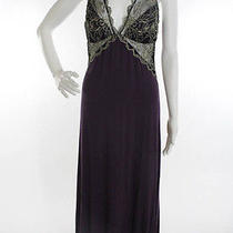 Nwt Fleur't With Me Dark Purple Stretch Lace Trim Sleeveless Lingerie Dress Sz M Photo