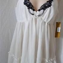 Nwt Flora Nikrooz  Lace Chemise Slip M for Macy's Photo