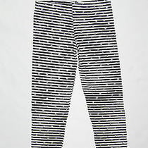 Nwt Flowers by Zoe Striped Cotton Leggings With Silver Polka Dots Sz 6  Photo