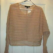 Nwt Forever 21 Blush Sheer Stretch Knit Top Sz Large Photo