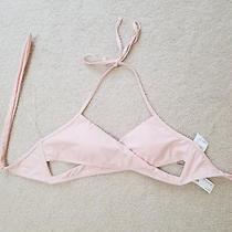 Nwt Forever 21 Womens Blush Pale Pink  Wrap Halter Bikini Top Padded Sz. M Photo