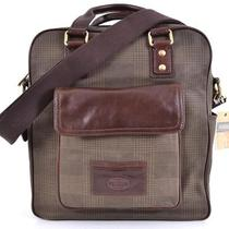 Nwt Fossil 258 Plaid Vertical Transit Messenger Laptop Briefcase Travel Bag Photo