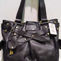 Nwt  Fossil Adrina Shopper Black Leather Bag Zb5165 Photo