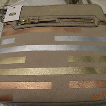 Nwt- Fossil Beautiful Popular Designer Shoulder/crossbody Leather/canvas Bag Photo