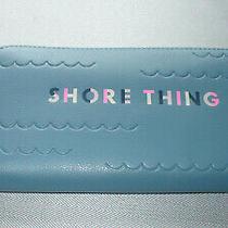 Nwt Fossil Blue Zip Around Clutch Wallet Photo
