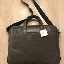 Nwt Fossil Brown Leather Satchel Messenger Bag Photo
