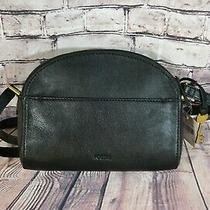 Nwt Fossil Chelsea Crossbody Leather Black Messenger Bag Zb7633001 Photo