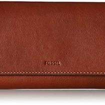 Nwt Fossil Emma Flap Cluth Brown Leather Wallet Photo