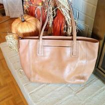 Nwt  Fossil  Emma Top Zip  Leather Tote Shopper Tan With Key Photo
