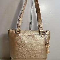 Nwt Fossil Gift Pale Rose Metallic Leather Small Shopper Tote Purse Zb6703682 Photo